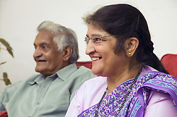 Elderly Couple; smiling,