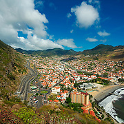 Costline near Madeira's town of Machico