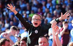 Man city fan celebrates at full time. - Mandatory by-line: Alex James/JMP - 13/05/2018 - FOOTBALL - St Mary's Stadium - Southampton, England - Southampton v Manchester City - Premier League