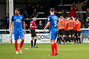 Southend United players celebrate their goal during the EFL Sky Bet League 1 match between Peterborough United and Southend United at London Road, Peterborough, England on 3 February 2018. Picture by Nigel Cole.