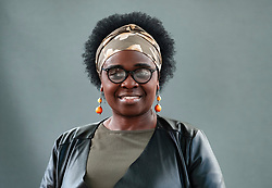 "Edinburgh, Scotland, UK; 16 August, 2018. Pictured; Jennifer Nansubuga Makumbi.  Her debut novel ""Kintu"" reimagine's Uganda's history through the cursed bloodline of the Kintu clan."