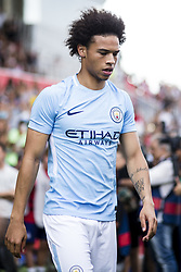 August 15, 2017 - Girona, Spain - 19 Leroy Sane from Germany of Manchester City during the Costa Brava Trophy match between Girona FC and Manchester City at Estadi de Montilivi on August 15, 2017 in Girona, Spain. (Credit Image: © Xavier Bonilla/NurPhoto via ZUMA Press)
