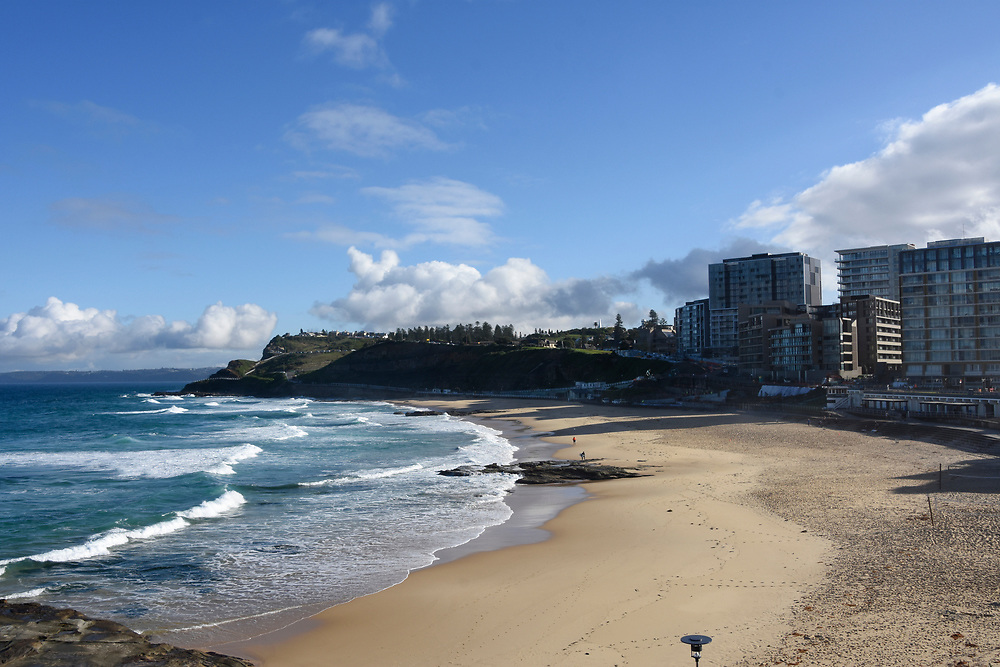 Coastline and beach of Newcastle NSW, Australia