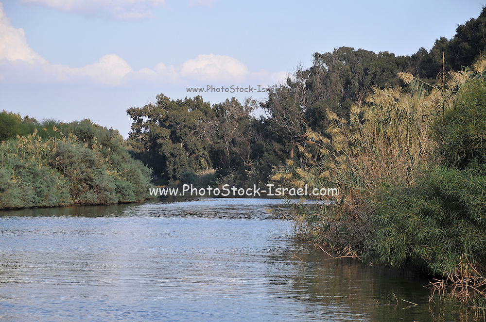 Israel, Hadera stream a seasonal watercourse nature reserve