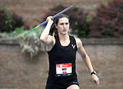 Jul 25, 2019; Des Moines, IA, USA; Ariana Ince wins the women's javelin at 200-4 (61.06m) during the USATF Championships at Drake Stadium.
