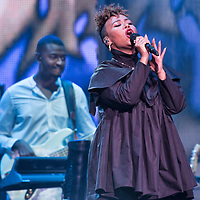 Emeli Sande in concert at The SSE Hydro, Glasgow, Scotland, Britain 15th October 2017
