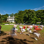 August 31, 2009 - Bronx, NY : The Riverdale Country School football team spent much of the day working out at the school's lower school campus on Monday.  The players run through drills as they fine tune their game plans.