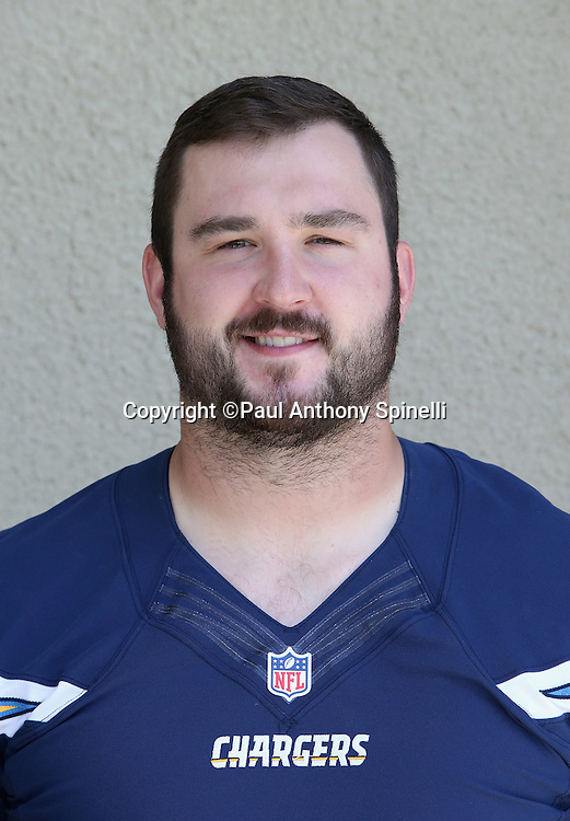San Diego Chargers offensive tackle Brett Boyko (67) poses for a headshot photograph after the Chargers 2016 NFL minicamp football practice held on Tuesday, June 14, 2016 in San Diego. (©Paul Anthony Spinelli)