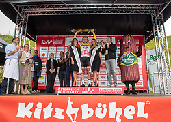 12.07.2019, Kitzbühel, AUT, Ö-Tour, Österreich Radrundfahrt, 6. Etappe, von Kitzbühel nach Kitzbüheler Horn (116,7 km), im Bild Georg Zimmermann (GER, Tirol KTM Cycling Team) im Wiesbauer Bergtrikot des Siegers in der Bergwertung // Georg Zimmermann of Germany (Tirol KTM Cycling Team) in the Wiesbauer king of the mountains jersey during 6th stage from Kitzbühel to Kitzbüheler Horn (116,7 km) of the 2019 Tour of Austria. Kitzbühel, Austria on 2019/07/12. EXPA Pictures © 2019, PhotoCredit: EXPA/ Reinhard Eisenbauer