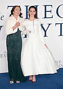 """Dec 9, 2014 - """"The Theory Of Everything"""" - UK Premiere - Red Carpet Arrivals at Odeon,  Leicester Square, London<br /> <br /> Pictured: Jane Hawking; Felicity Jones<br /> ©Exclusivepix Media"""