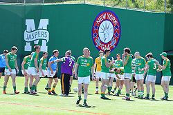 May 5, 2013; Bronx, NY; USA; Leitrim warms up before their game during their match against New York at Gaelic Park.