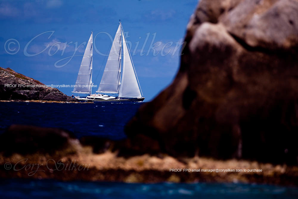 Twizzle sailing in the Caribbean Superyacht Regatta and Rendezvous, race 1.