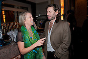 VANESSA BRANSON; MAT COLLISHAW, Ella Krasner and Pablo Ganguli host a Liberatum dinner in honour of Sir V.S.Naipaul. The Landau at the Langham. London. 23 November 2010. -DO NOT ARCHIVE-© Copyright Photograph by Dafydd Jones. 248 Clapham Rd. London SW9 0PZ. Tel 0207 820 0771. www.dafjones.com.
