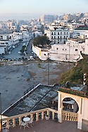 Morroco, Tangier, Old medina, the port view from the hotel Continental