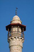 Israel, Tel Aviv - Jaffa, The turret of the El Baher mosque in old Jaffa  August 2005