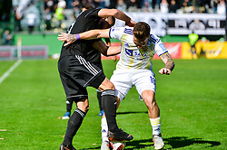 Nino Kouter of NS Mura vs Dino Hotic of NK Maribor during football match between NS Mura and NK Maribor in 10th Round of Prva liga Telekom Slovenije 2018/19, on September 30, 2018 in Mestni stadion Fazanerija, Murska Sobota, Slovenia. Photo by Mario Horvat / Sportida