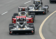 05 MAY 2007: Bobby East (14) of A.J. Foyt Enterprises leads the pack during the Silver Crown race at the Casey's General Stores USAC Triple Crown at the Iowa Speedway in Newton, Iowa on May 5, 2007.