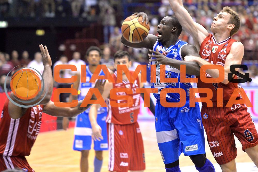 DESCRIZIONE : Milano Lega A 2014-15 EA7 Emporio Armani Milano vs Banco di Sardegna Sassari playoff Semifinale gara 5 <br /> GIOCATORE : Sanders Rakim<br /> CATEGORIA : Rimbalzo<br /> SQUADRA : Banco di Sardegna Sassari<br /> EVENTO : PlayOff Semifinale gara 5<br /> GARA : EA7 Emporio Armani Milano vs Banco di Sardegna SassariPlayOff Semifinale Gara 5<br /> DATA : 06/06/2015 <br /> SPORT : Pallacanestro <br /> AUTORE : Agenzia Ciamillo-Castoria/Mancini Ivan<br /> Galleria : Lega Basket A 2014-2015 Fotonotizia : Milano Lega A 2014-15 EA7 Emporio Armani Milano vs Banco di Sardegna Sassari playoff Semifinale  gara 5 Predefinita :