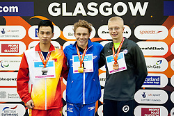 GRISWOLD Robert, WANG Yinan, HYND Oliver USA, CHN, GBR at 2015 IPC Swimming World Championships -  Men's 400m Freestyle S8
