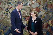 121118 King Felipe VI attends a meeting with Michelle Bachelet