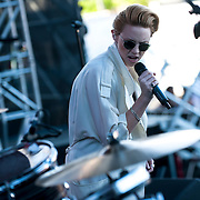 May 17, 2013 - Queens, NY :   Elly Jackson of La Roux, performs during the first day of the 2013 New York 'Electric Daisy Carnival,' an electronic dance music festival, at Citi Field in Queens, on Friday. CREDIT: Karsten Moran for The New York Times CREDIT: Karsten Moran for The New York Times