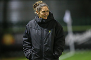 Forest Green Rovers academy manager Hannah Dingley during the FA Youth Cup match between Forest Green Rovers and Helston Athletic at the New Lawn, Forest Green, United Kingdom on 29 October 2019.