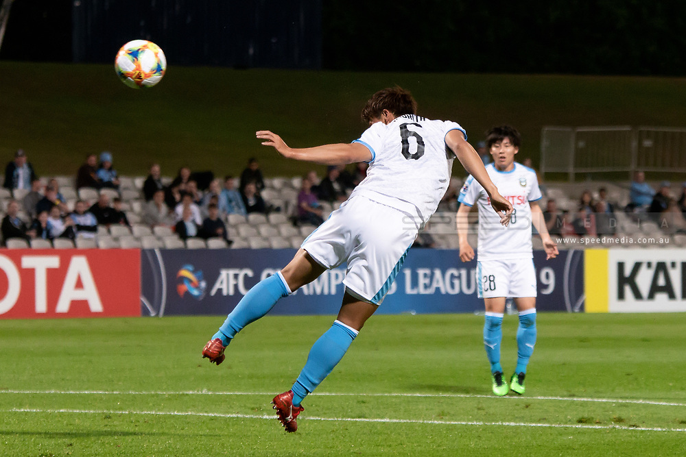 SYDNEY, AUSTRALIA - MAY 21: Kawasaki Frontale player Hidemasa Morita (6) heads the ball at goal at AFC Champions League Soccer between Sydney FC and Kawasaki Frontale on May 21, 2019 at Netstrata Jubilee Stadium, NSW. (Photo by Speed Media/Icon Sportswire)