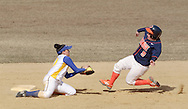 Middletown, NY - Nicole Trifono of SUNY Orange slides into second base as Danielle DePasquale of Gloucester County College gets ready to make the tag during a women's softball game on March 30, 2008.