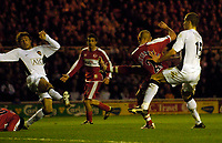 Photo: Jed Wee/Sportsbeat Images.<br /> Middlesbrough v Manchester United. The FA Cup. 10/03/2007.<br /> <br /> Middlesbrough's Lee Cattermole scores their equaliser late in the first half.