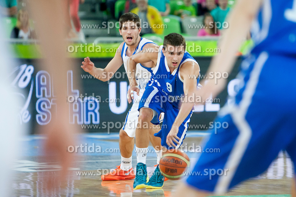 Andrej Magdevski (team blue) of Macedonia during basketball match U18 All Star Game 2013 at Day 18 of Eurobasket 2013 on September 21, 2013 in SRC Stozice, Ljubljana, Slovenia. (Photo By Urban Urbanc / Sportida)