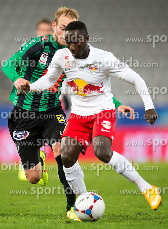 29.10.2014, Tivoli Stadion, Innsbruck, AUT, OeFB Sammsung Cup, FC Wacker Innsbruck vs FC Red Bull Salzburg, Achtelfinale, im Bild (v.l.) Danijel Micic (Wacker), Naby Keita (RBS) // during the OeFB Samsung Cup, Round of the last sixteen, between FC Wacker Innsbruck and FC Red Bull Salzburg at the Tivoli Stadion in Innsbruck, Austria on 2014/10/29. EXPA Pictures © 2014, PhotoCredit: EXPA/ Johann Groder