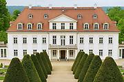 RADEBEUL, GERMANY - MAY 20, 2010: Exterior of the Wackerbarth castle in Radebeul, Germany.