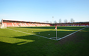 Whaddon Road during the Sky Bet League 2 match between Cheltenham Town and Cambridge United at Whaddon Road, Cheltenham, England on 14 April 2015. Photo by Alan Franklin.