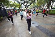 China, Hong Kong S.A.R..Morning Tai Chi at Victoria Park.