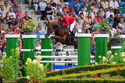 MADDEN Elizabeth (USA), Darry Lou<br /> Aachen - CHIO 2018<br /> Rolex Grand Prix 2. Umlauf<br /> Der Grosse Preis von Aachen<br /> 22. Juli 2018<br /> © www.sportfotos-lafrentz.de/Stefan Lafrentz