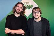 Perspresentatie van het on demand-platform KPN Presenteert.<br /> <br /> Op de foto:  Beer ten Kate (regie) en Joep Vermolen ('Toon')