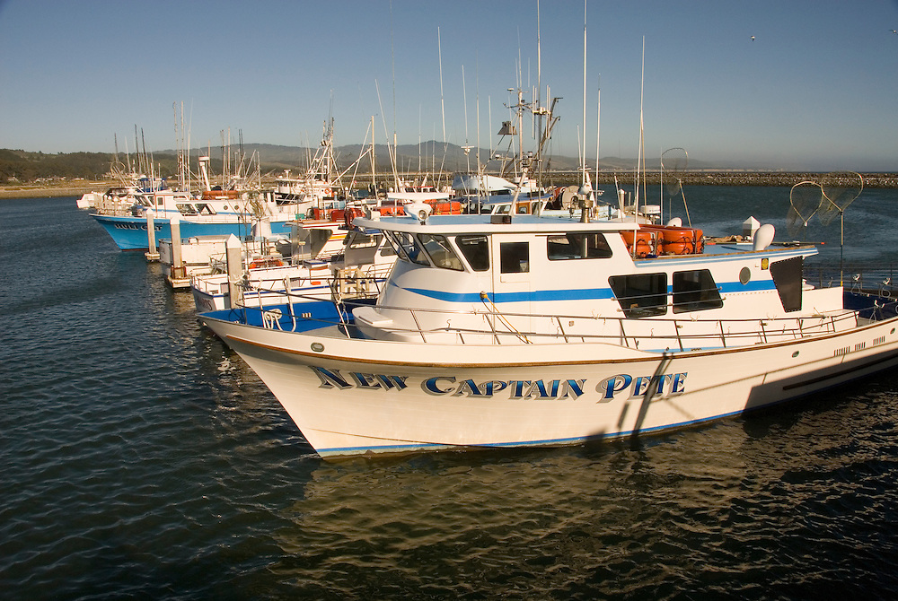 Boats in Princeton Harbor,.San Mateo Coast of California, south of San Francisco.  Photo copyright Lee Foster, 510-549-2202, lee@fostertravel.com, www.fostertravel.com. Photo 427-31226