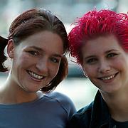 Bianca Plune en haar vriendin Jill in Rotterdam