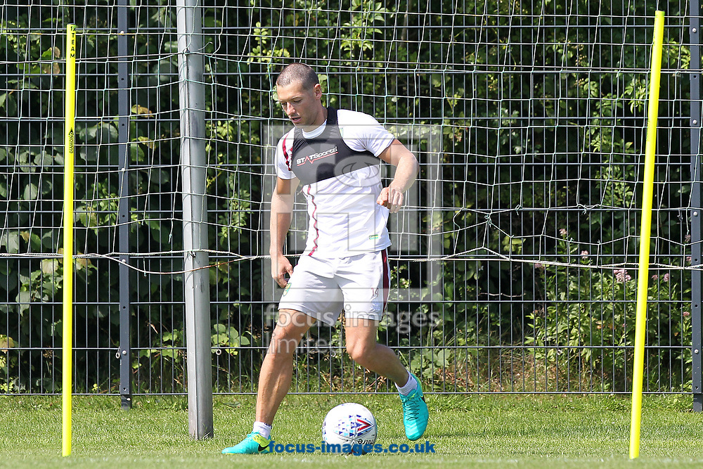 Wes Hoolahan of Norwich during the Norwich City Pre-Season Training session at Hotel Klosterpforte, Harsewinkel, Germany<br /> Picture by Paul Chesterton/Focus Images Ltd +44 7904 640267<br /> 18/07/2017