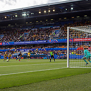 MONTPELLIER, FRANCE June 13.  Marta #10 of Brazil scores her sides first goal from the penalty spot during the Australia V Brazil, Group C match at the FIFA Women's World Cup at Stade La Mosson Stadium on June 13th 2019 in Montpellier, France. (Photo by Tim Clayton/Corbis via Getty Images)