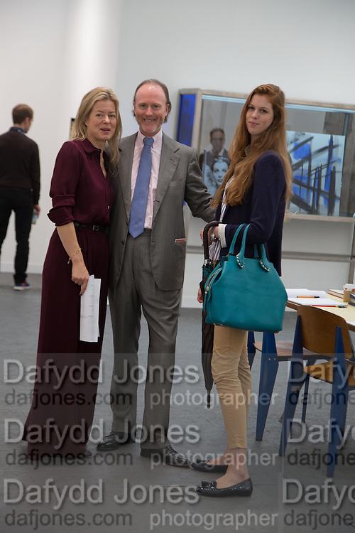 LADY HELEN TAYLOR; H.S.H. Prince Pierre d'Arenberg; ALIENOR D'ARENBERG, The VIP preview of Frieze. Regent's Park. London. 16 October 2013