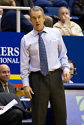 December 28, 2009; Berkeley, CA, USA;  UC Santa Barbara Gauchos head coach Bob Williams during the second half against the Furman Paladins at the Haas Pavilion.  UC Santa Barbara defeated Furman 72-60.