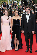 "CANNES, FRANCE - MAY 21: Zukhra Duishvili, Berenice Bejo and director Michel Hazanavicius attend the ""The Search"" Premiere  at the 67th Annual Cannes Film Festival on May 21, 2014 in Cannes, France.  (Photo by Tony Barson/FilmMagic)"