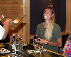 LIVERPOOL, ENGLAND - Thursday, June 15, 2017: Polona Hercog (SLO) at Sapporo Teppanyaki  on Day One of the Liverpool Hope University International Tennis Tournament 2017 at the Liverpool Cricket Club. (Pic by David Rawcliffe/Propaganda)