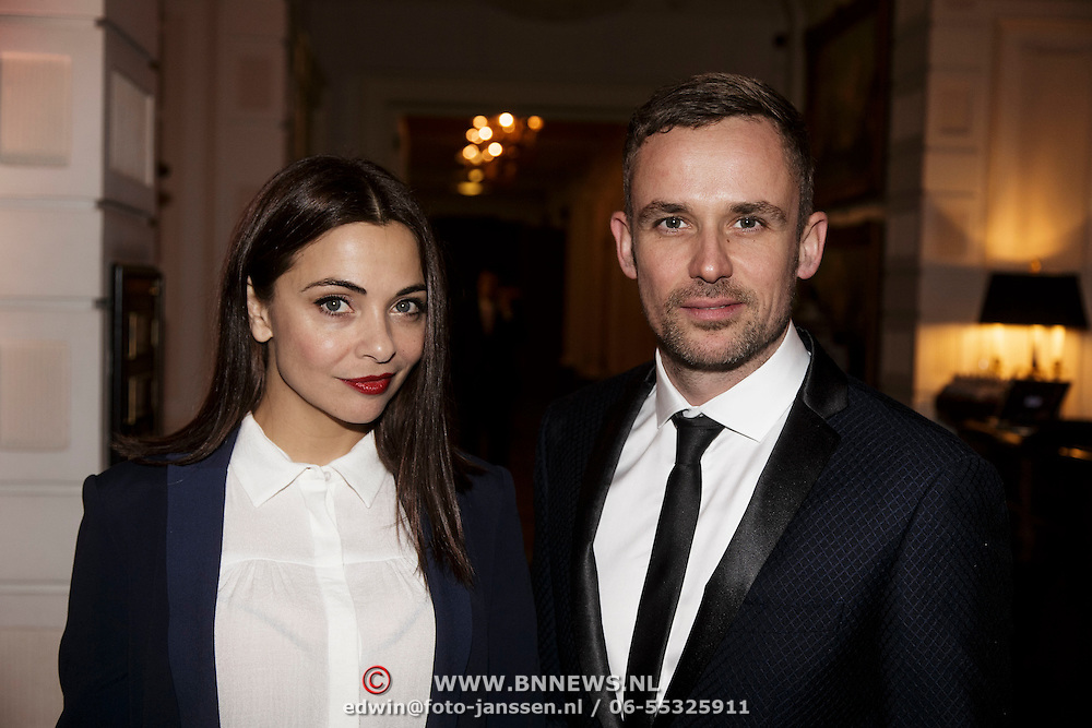 NLD/Amsterdam/20141215- Glamour Woman of the Year 2014, Georgina Verbaan en Patrick Martens