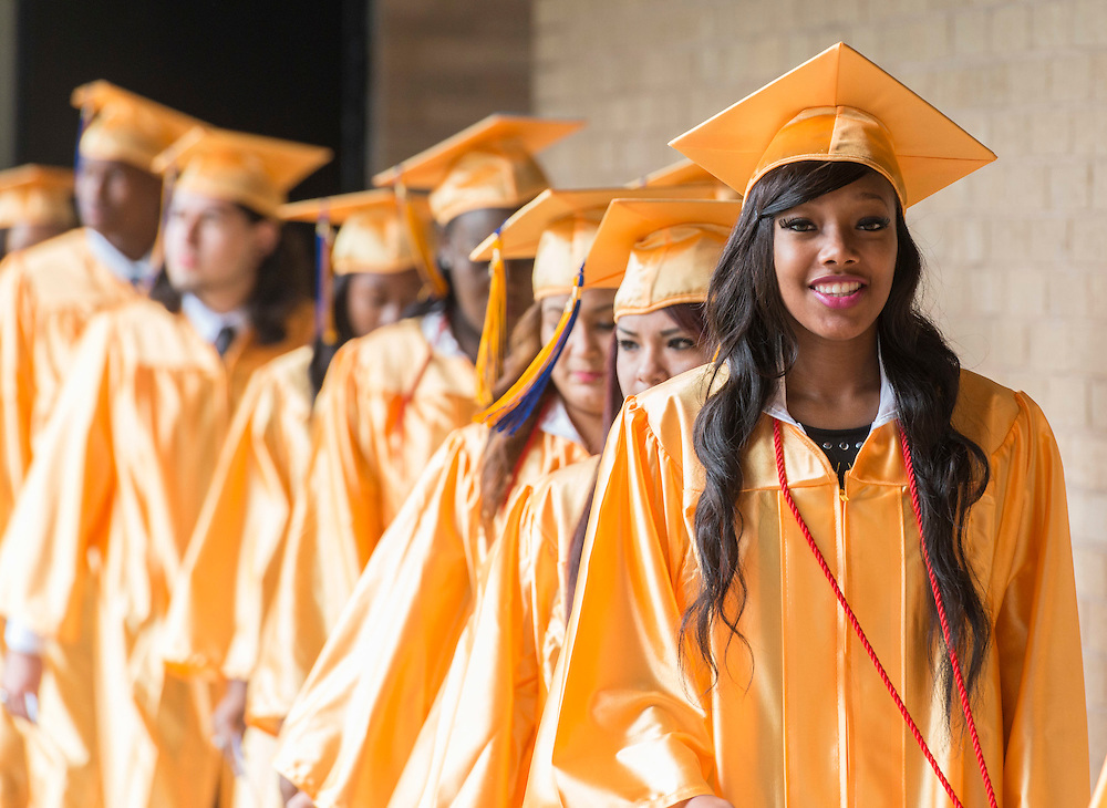 Washington High School seniors participate in a graduation ceremony at Wilkins Pavilion, May 31, 2014.