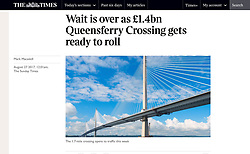 The Times; Queensferry Crossing bridge in Scotland