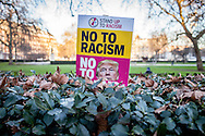 Protesters rallied outside the US embassy in London this evening after Donald Trump was sworn in as the 45th President of the United States. London, Jan. 20, 2017 (Photos/Ivan Gonzalez)