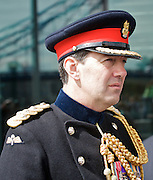 Raising the flag for Armed Forces Day <br /> at City Hall, London, Great Britain <br /> <br /> 20th June 2011<br /> <br /> Brigadier Matthew Lowe MBE.<br /> <br /> Photograph by Elliott Franks