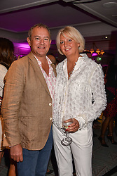 Hugh Bonneville and his wife Lulu at the 2017 Fortnum & Mason Food & Drink Awards held at Fortnum & Mason, Piccadilly London England. 11 May 2017.<br /> Photo by Dominic O'Neill/SilverHub 0203 174 1069 sales@silverhubmedia.com